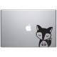 Macbook sticker Oscar le renard