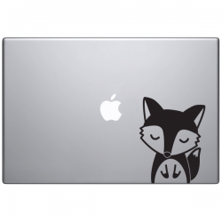Macbook sticker Oscar le renard