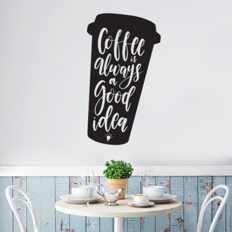 stickers cuisine coffee is always a good idea