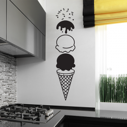 Sticker deco cuisine cornet de glace ice cream