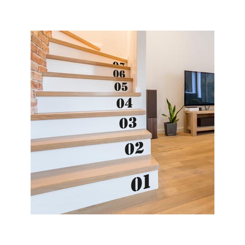 Stickers Chiffres escalier stencil | Optimistick